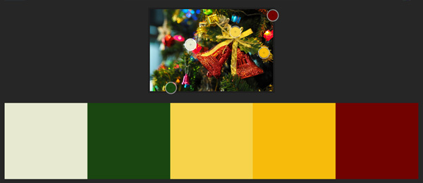 Winter palette Christmas