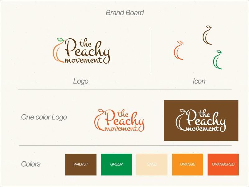 Peachy Brand Board Design