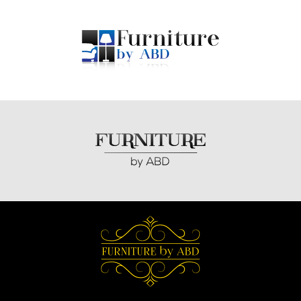 furniture store logo. These Are The Logo Versions Presented To A Client. Is Intended For Web Use, An Online Furniture Store. Store