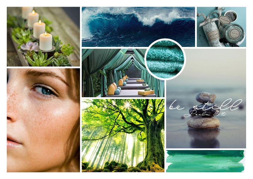 Nature Wellness Spa Moodboard